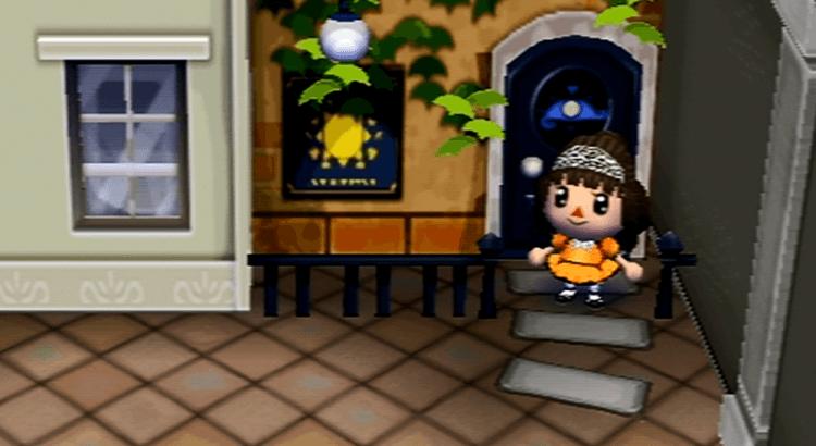Screenshot in game d'une robe réalisée sur Animal Crossing sur le thème de Samhain (aussi appelé Halloween) en orange et noire