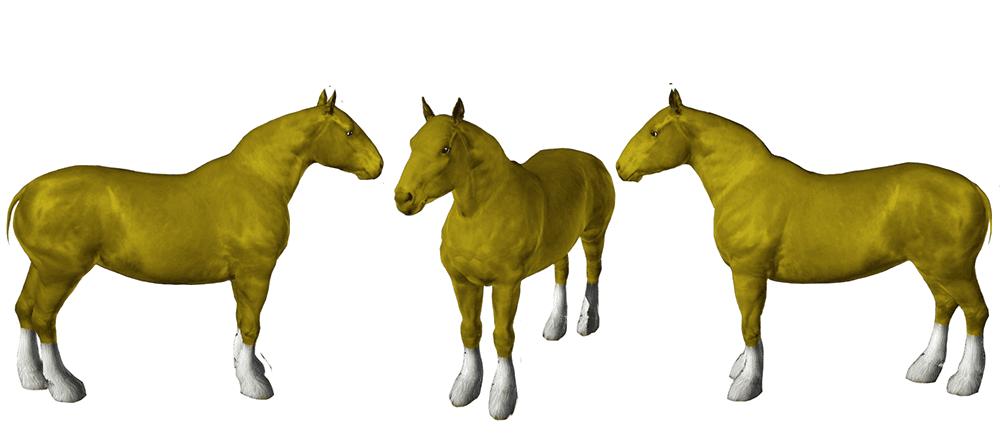 Template pour le jeu sims 3 - Cheval de trait auxois