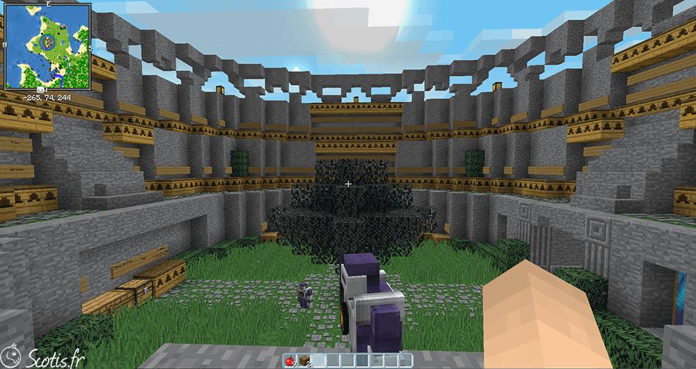 Colisée réalisée sur Minecraft par Scotis
