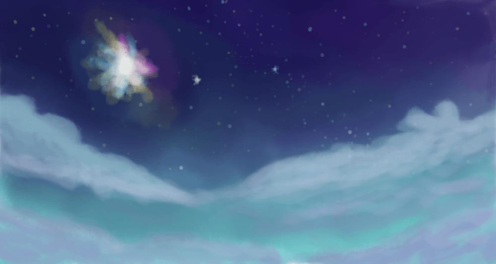 Peinture de ciel nocturne