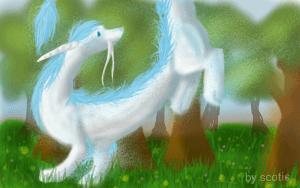 Dessin sur Téléphone d'un dragon par Scotis