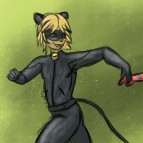Petit fan-art de Chat Noir, de la série Miraculous Ladybug