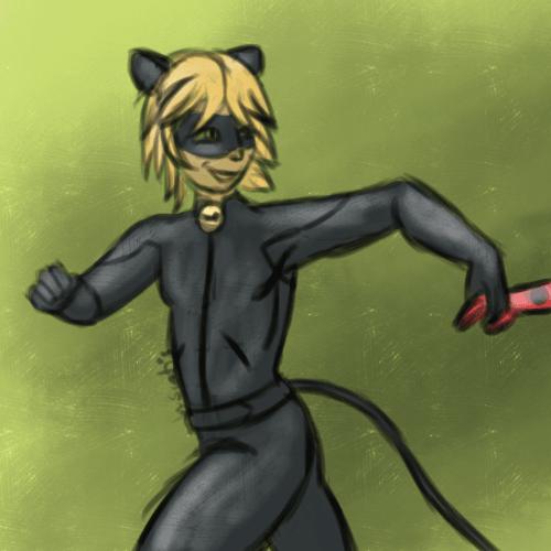Petit fan-art de Chat Noir, de la série Miraculous Ladybug