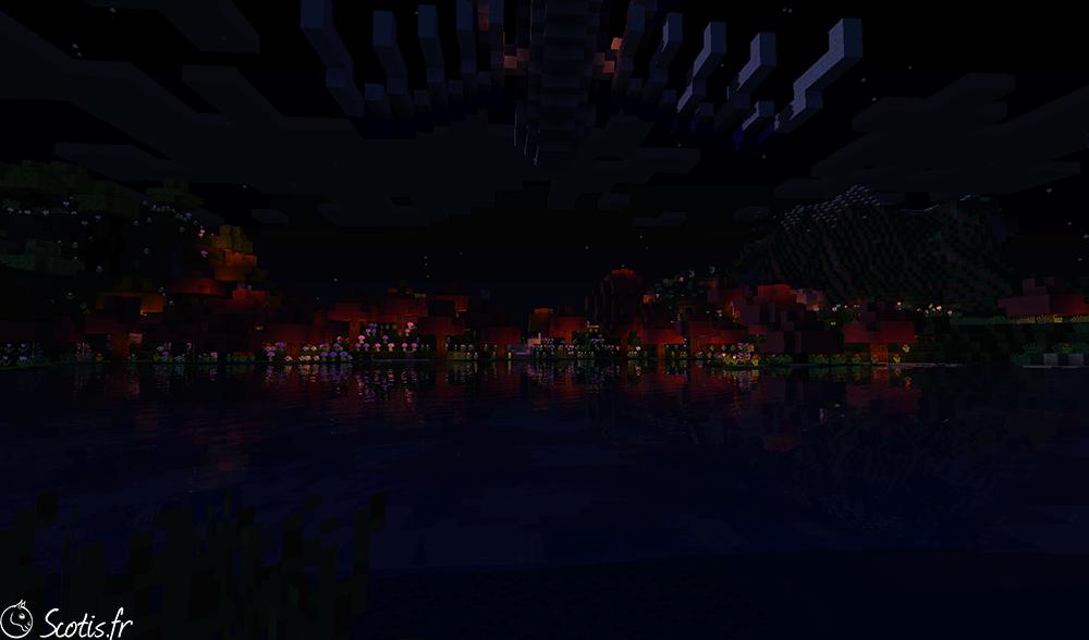 Nuit à Candyland sur Minecraft