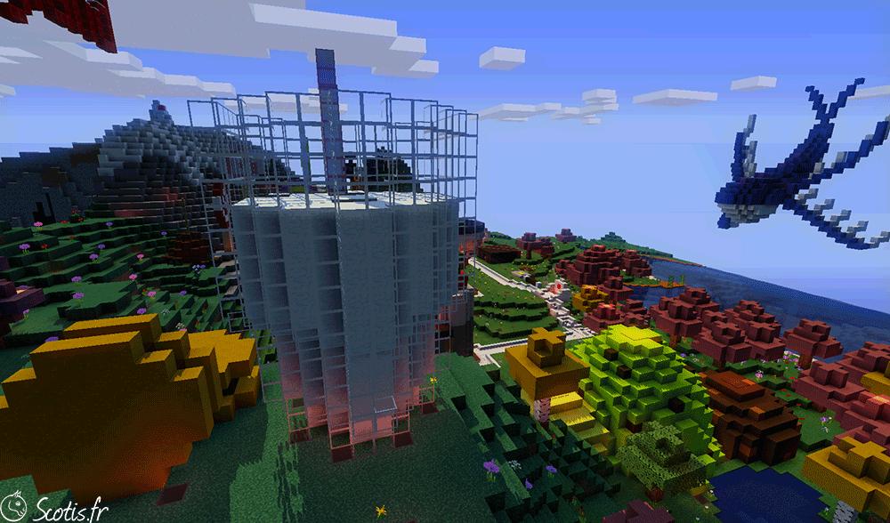 Vu en hauteur de Candyland par Scotis