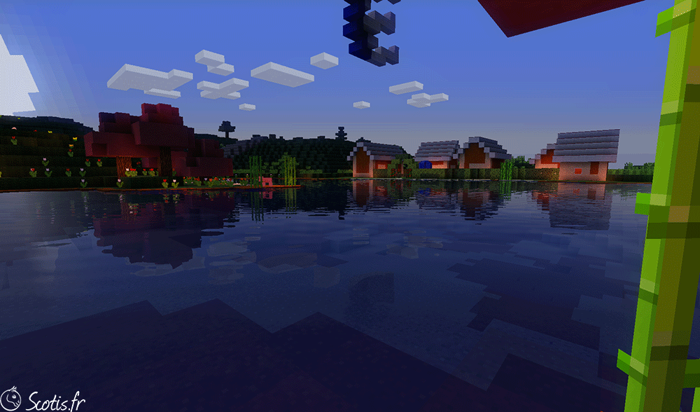 Lac de Candyland avec du sable