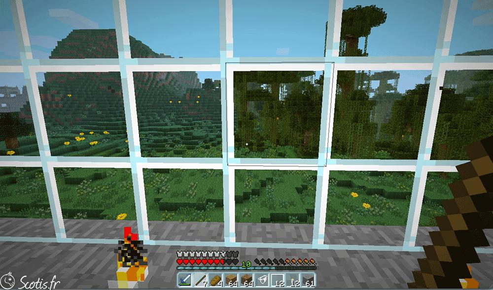 Fenêtre maison serpent sur Minecraft par Scotis
