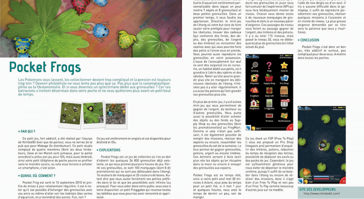 Magasine Pocket Frogs par Scotis