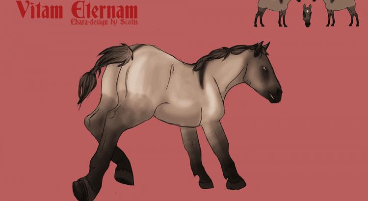 Charadesign d'un cheval dun