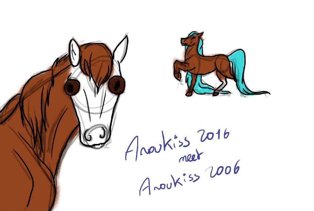 Version nouvelle et ancienne d'Anoukiss (OC)