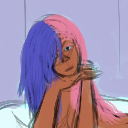 Fille dans un bain