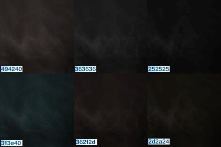 Teintes de noires pour le jeu Sims 3