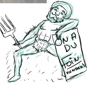 L'homme à la fourche, forum Spirit