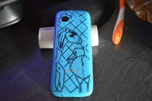 Ma coque de mon nouveau téléphone avec un rat, un shoebill et un rat