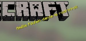 L'écran titre de Minecraft avec une phrase random