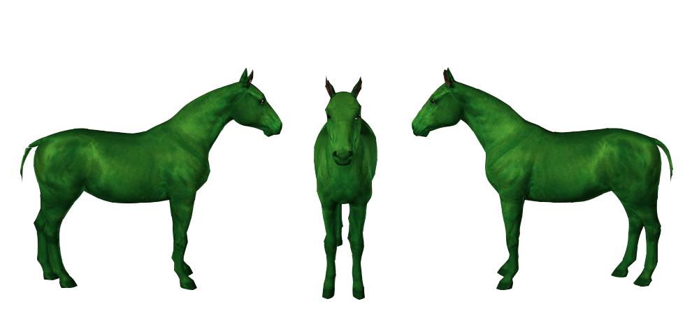 Template de cheval islandais pour le jeu Sims 3 par Scotis