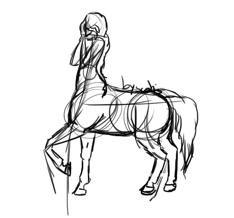 Dessin de centaure