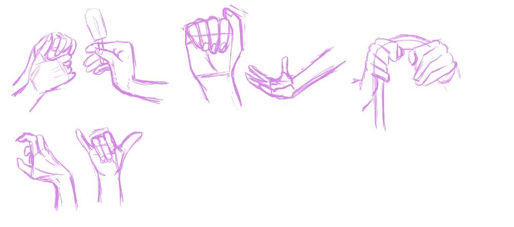 Dessin de mains par Scotis