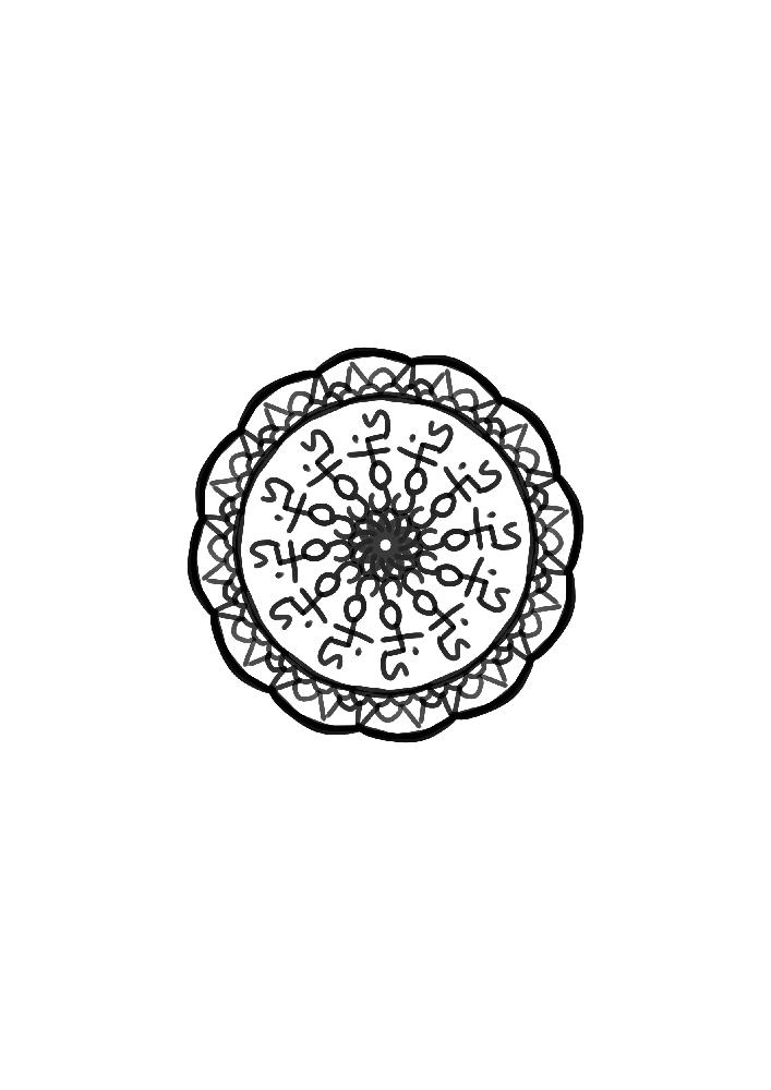Mandala réalisé à partir du pseudo Scotis