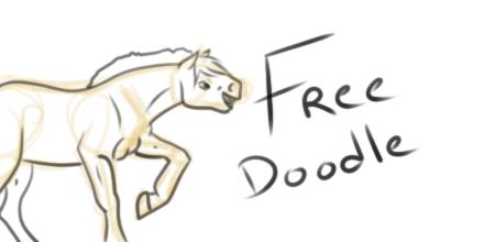 Le dessin dont je me suis servie la première fois pour proposer un free doodle