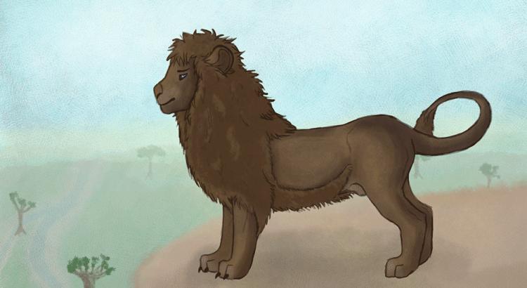 Dessin de lion par Scotis