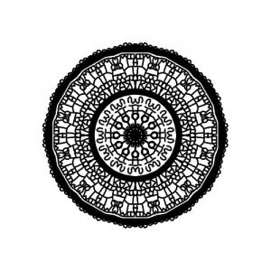 Mandala en lettre de l'alphabet