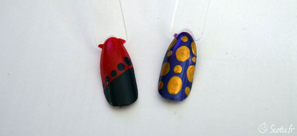 Infographie IRL nail-art simple au dotting tool