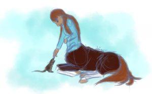 Anoukiss, centaure de Scotis et un rat