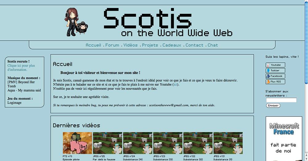 Web-design du site de Scotis scotis.fr