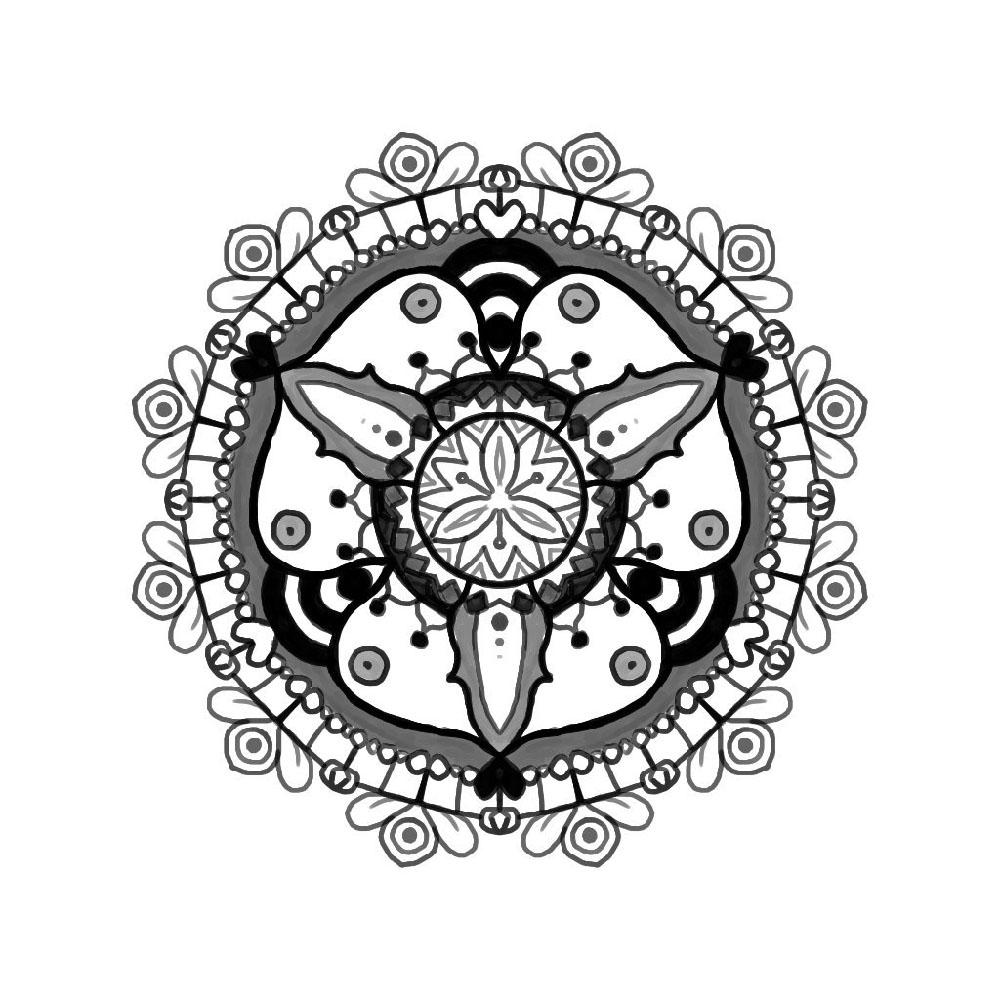 Mandala en noir et blanc par Scotis
