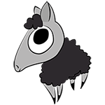 Version final du logotype de Kainou (black sheep)