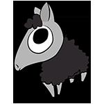 Version final du logotype de Kainou (black sheep)
