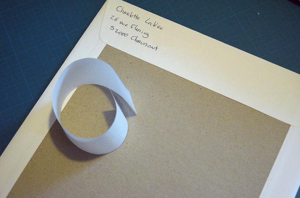 Enveloppe d'une commande de chez Scotis (Charlotte Leclère)