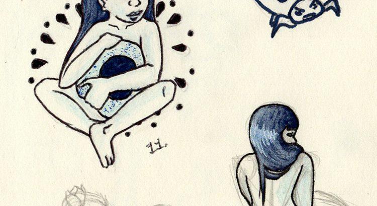 Dessin de jeune femme nue