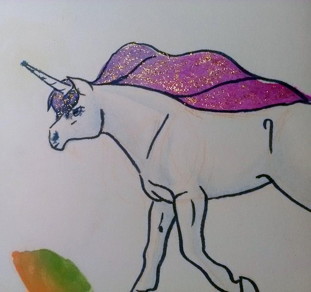 Licorne à l'aquarelle par Scotis