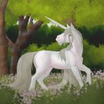 Opale, la licorne dans les bois
