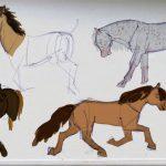 Crayonné de chevaux