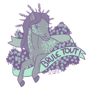 "sticker poney "" Brule tout "" insultant"