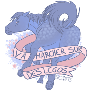 "sticker poney "" Va marcher sur des legos "" insultant"