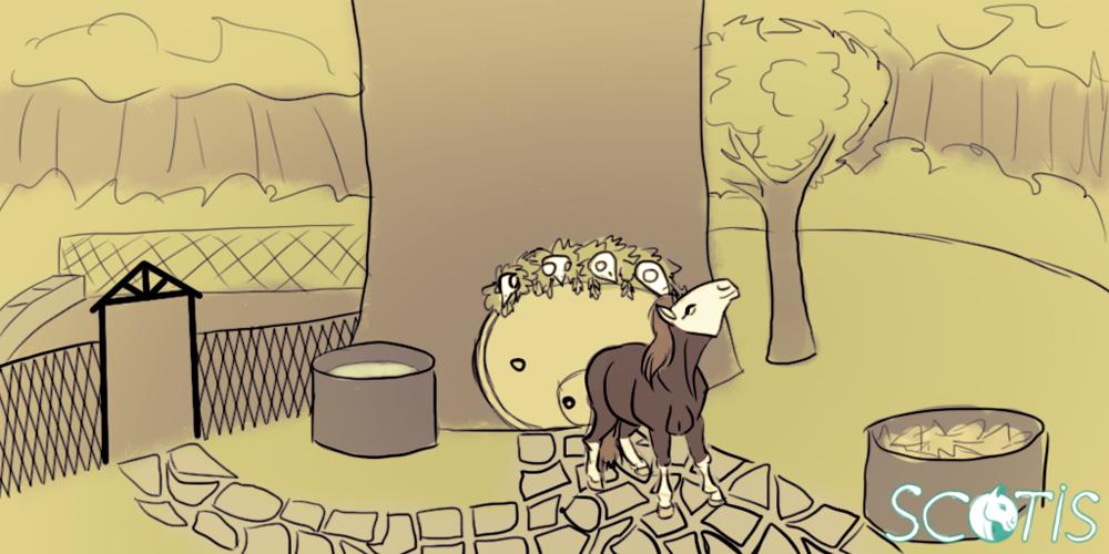 Illustration numérique d'Alekiss au sein de l'arbre refuge de la Bulle