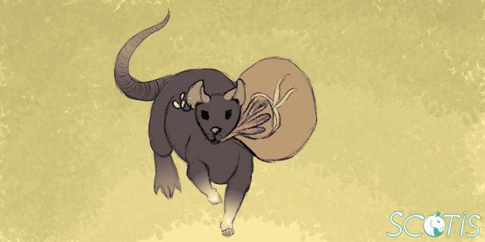 Encre la ratte, illustration par Scotis