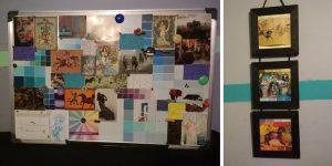 Collage d'image sur tableau, c'est mon mood-board actuel quoi.