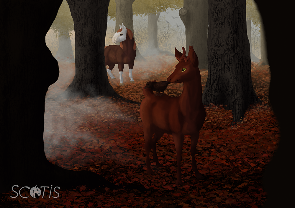 Silence dans la forêt - Illustration par Scotis
