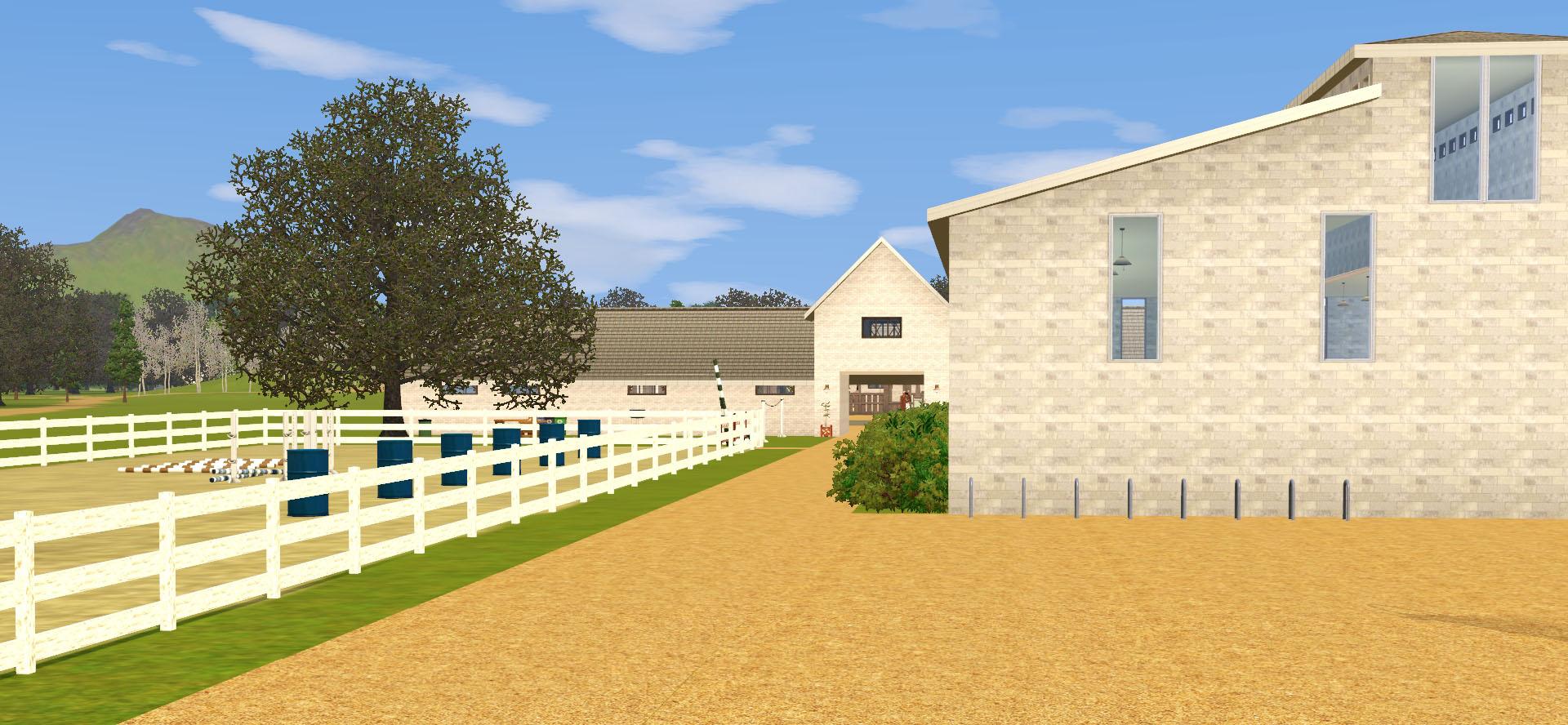 Entrée d'une écurie dans le jeu Sims 3