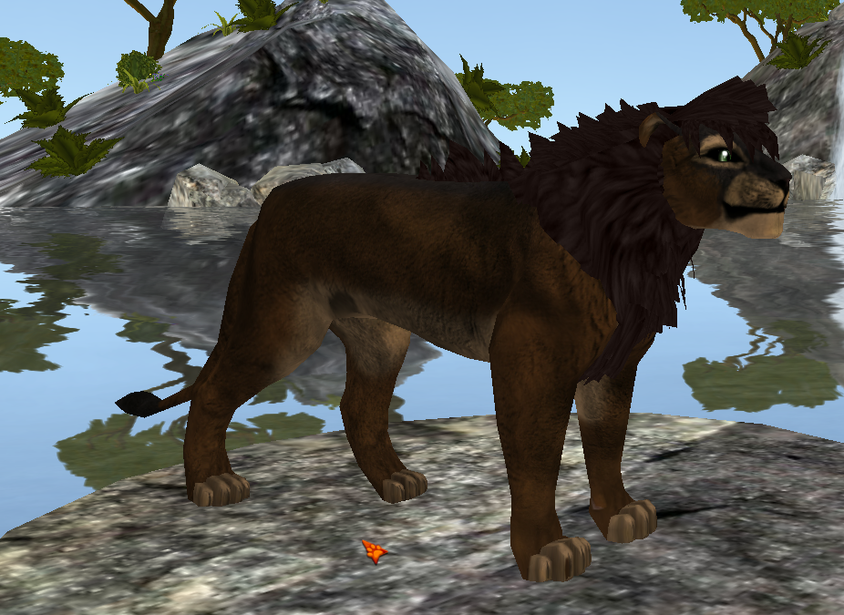 Texture d'un lion brun sur le jeu Feral-Heart
