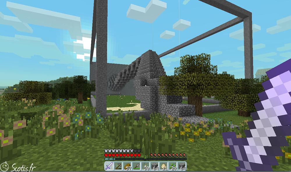 Maison Minecraft serpent