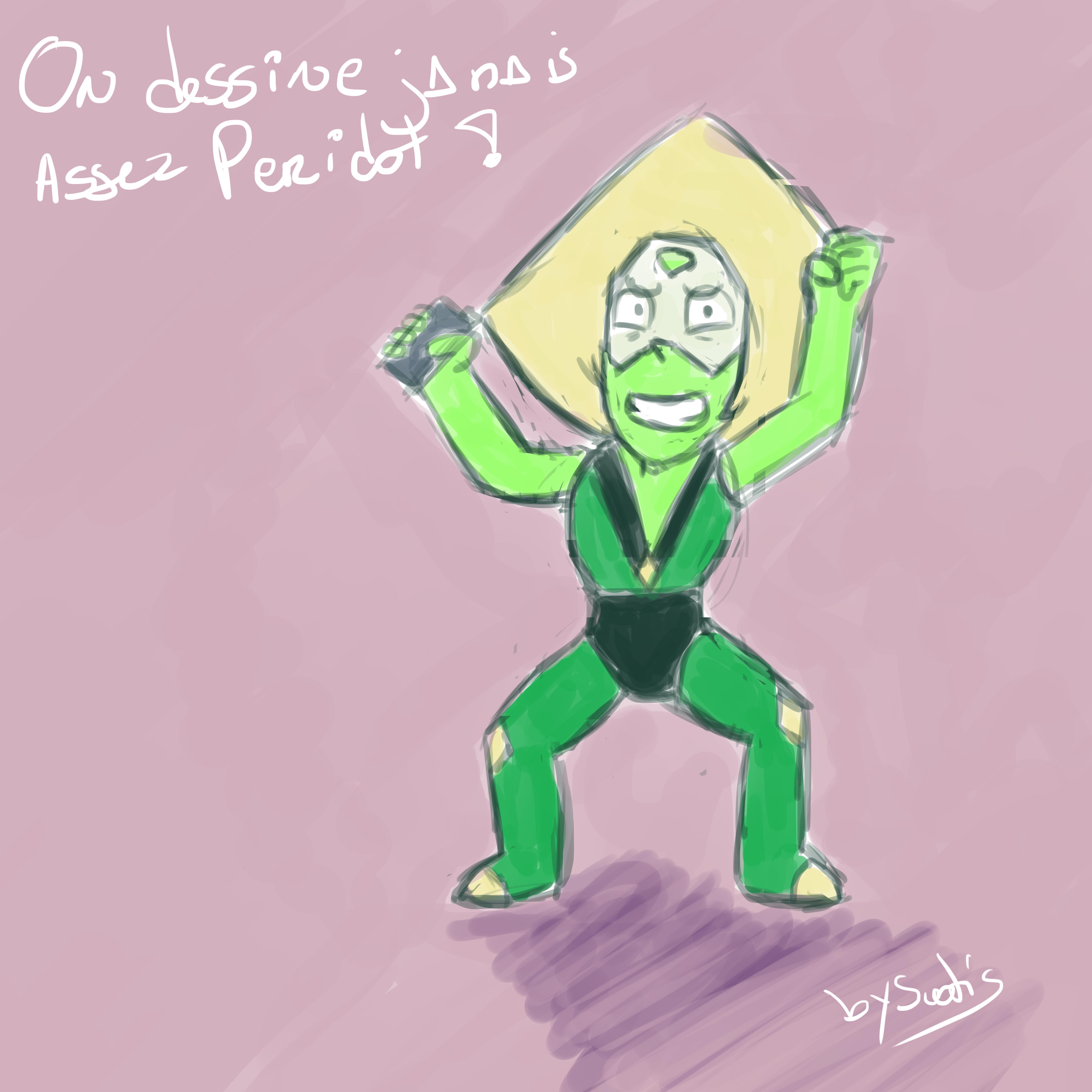 Dessin fan-art de Peridot, personnage de Steven Universe