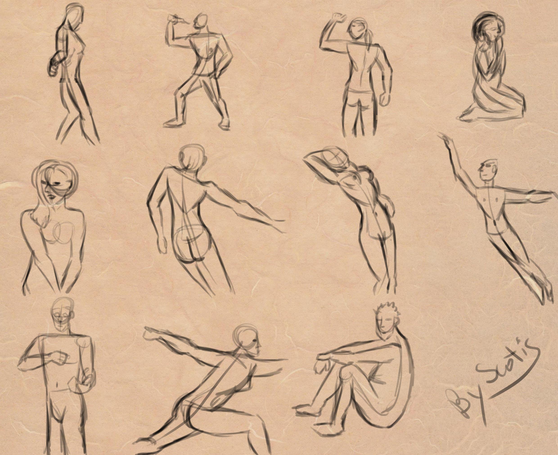 Gesture, dessins de gestes humains